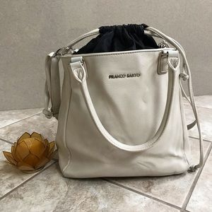 Franco Sarto beige/ cream shoulder purse/ bag
